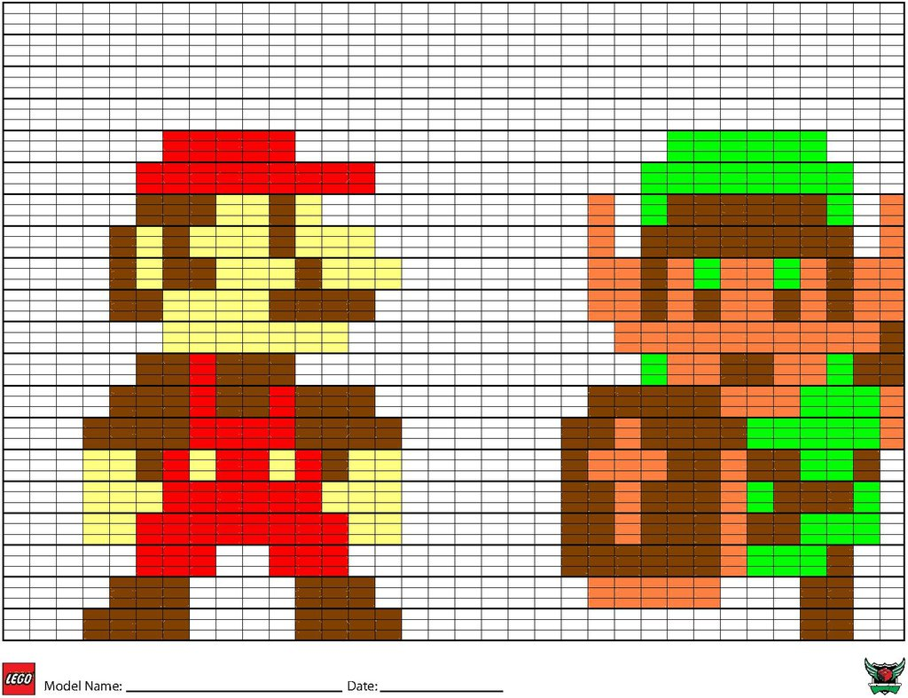 Free download Brick Sheet Mario And Link by WorldwideImage [1024x787