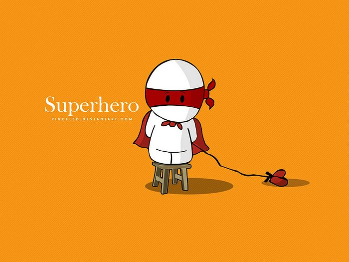 Cartoons By pincel3d   Super Hero Cute Little Boy Vector Cartoon 35 700x525