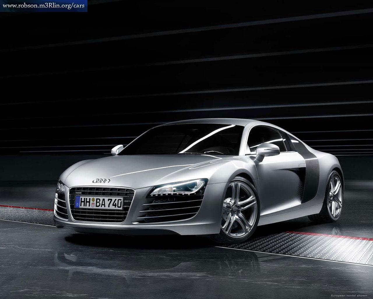 Audi R8 Road Car and Audi R8 Racing Car Cars   Pictures 1280x1024