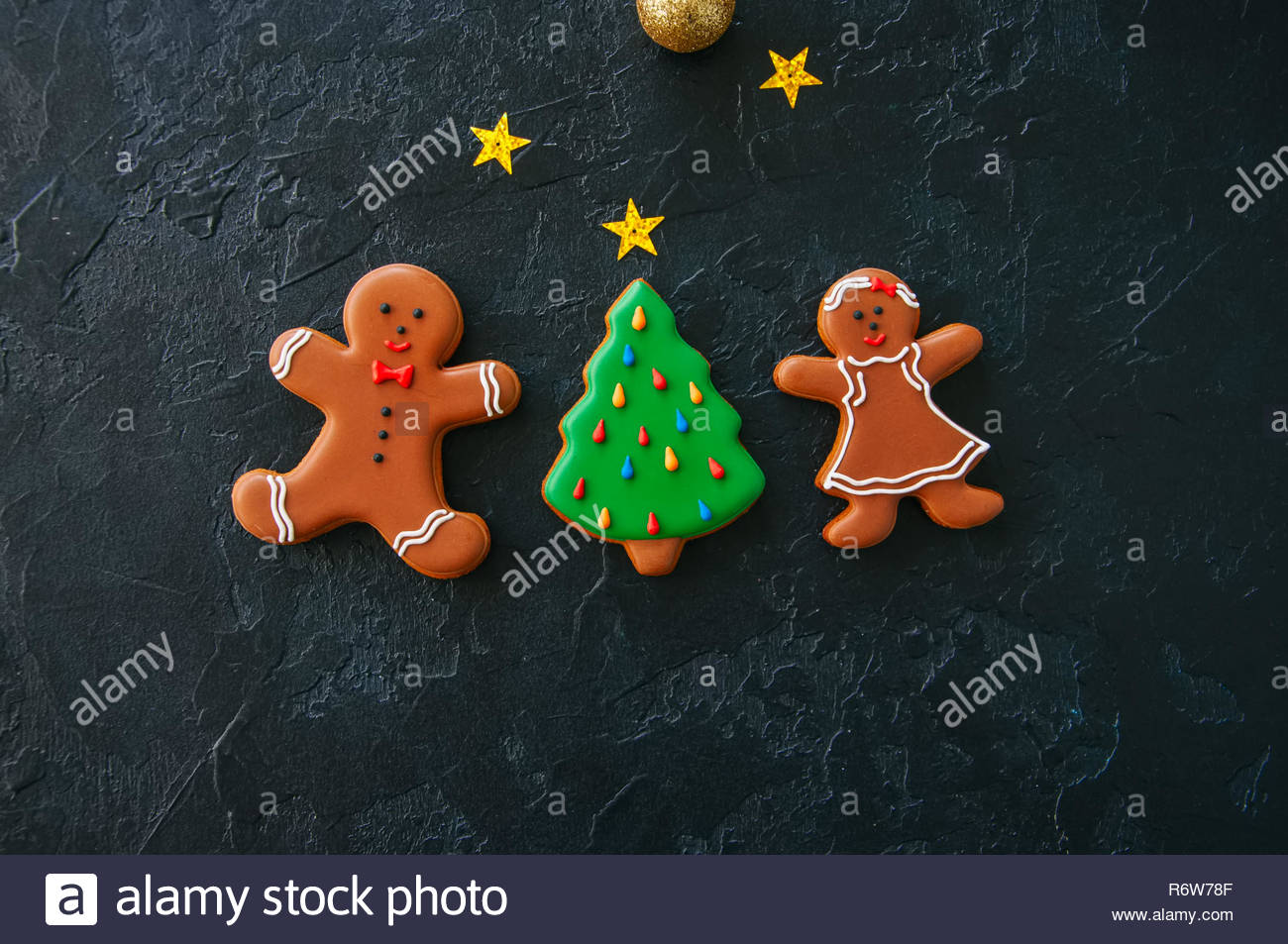 Festive Christmas background Cookies with images of Gingerbread 1300x953