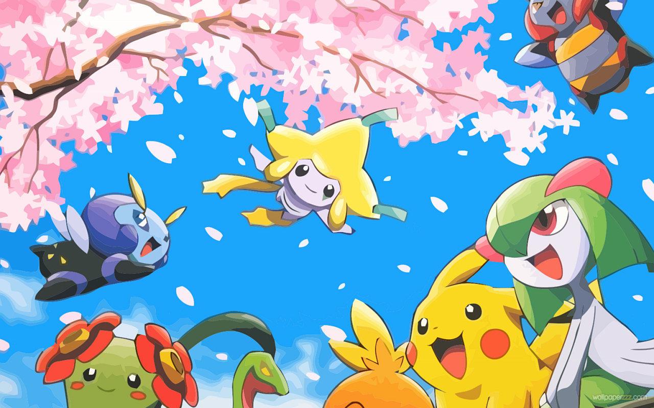 桜とポケモン