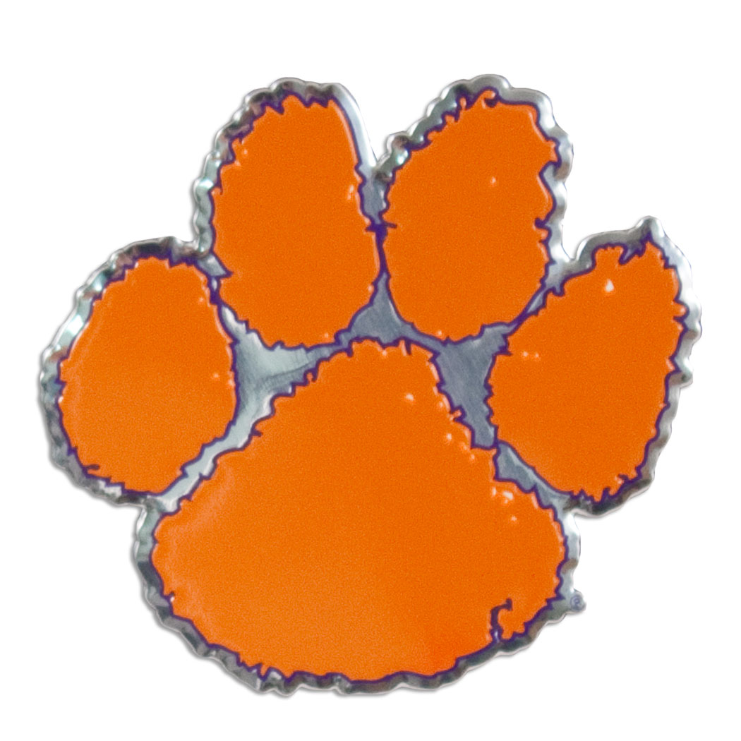 Pin Clemson University Tiger Paw Logo 1050x1050
