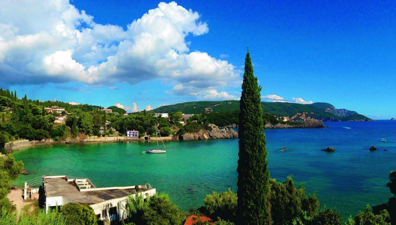 Greece Scenery Coast Sea Clouds Corfu Nature wallpaper 2280x1300 1228x700