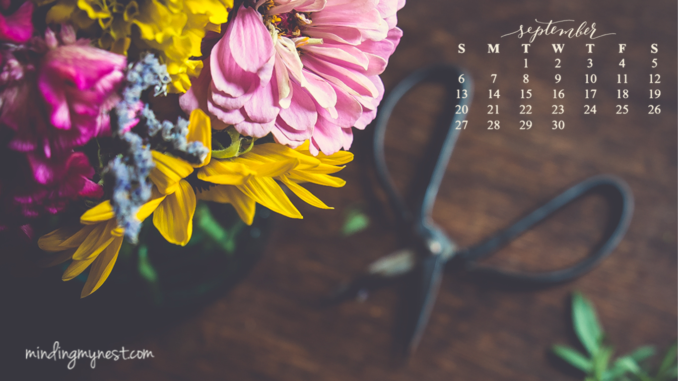 September desktop calendar wallpaper APRA Greater Houston 1366x768