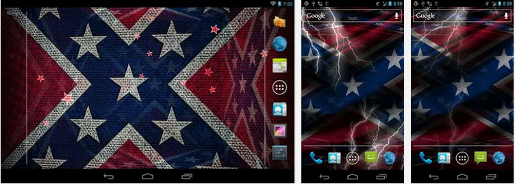 3D Rebel flag with thunder and fire effect There are lots of rebel 752x269