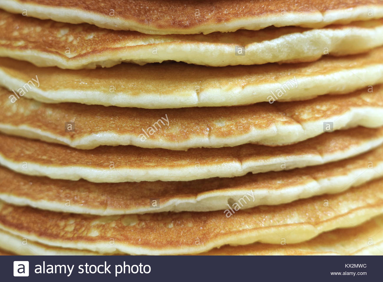 Closed up texture of plain pancakes stack for background Stock 1300x957