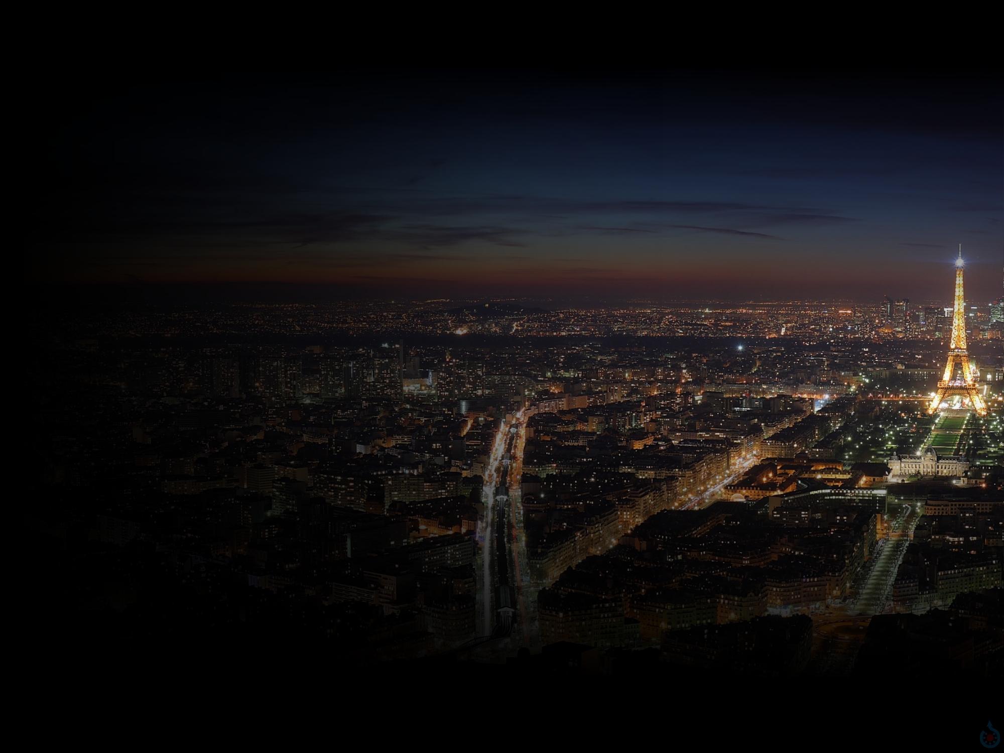 Beskrywing Night Paris   wallpaperjpg 2000x1500