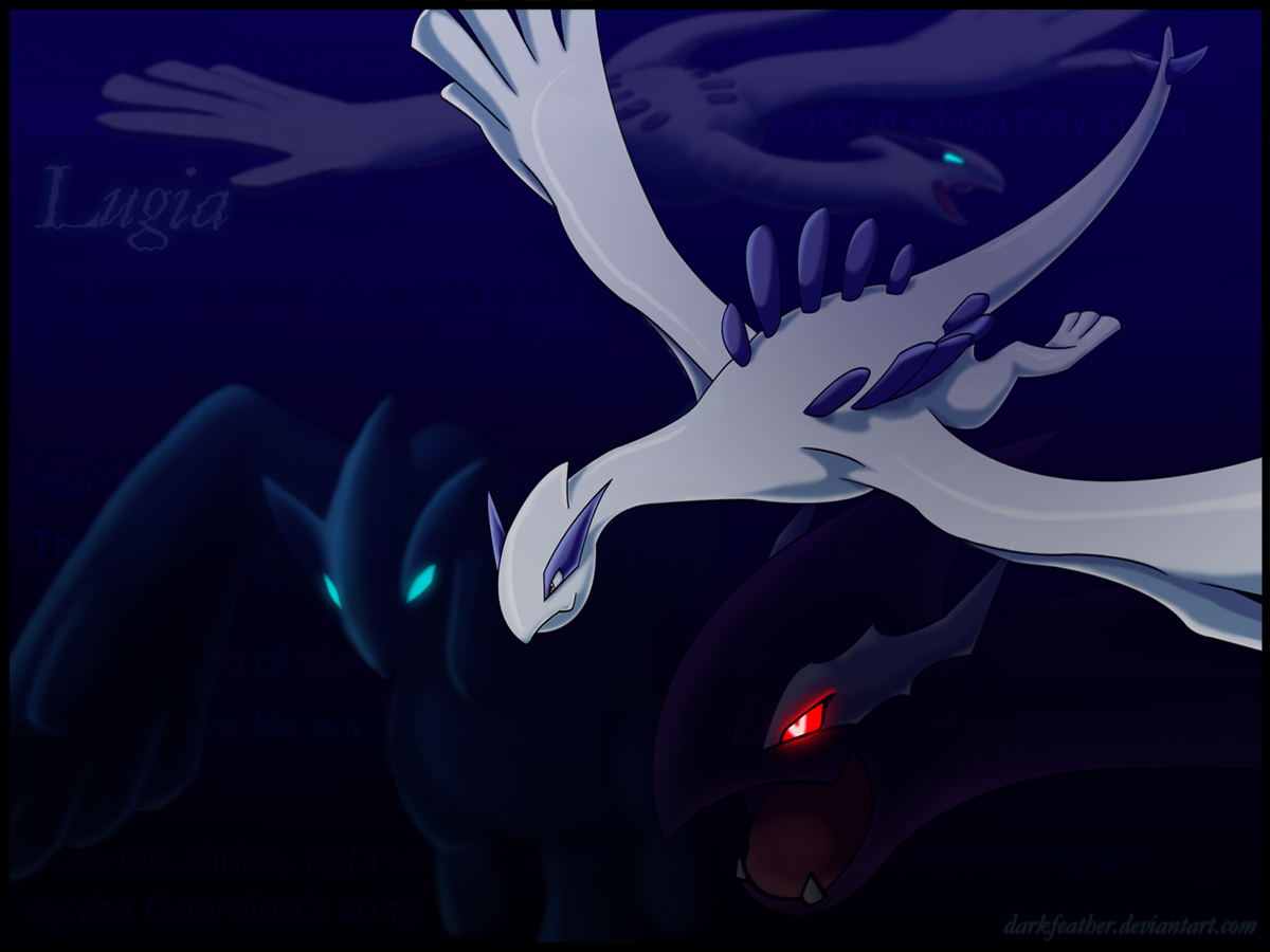 shadow lugia wallpaper wallpapersafari