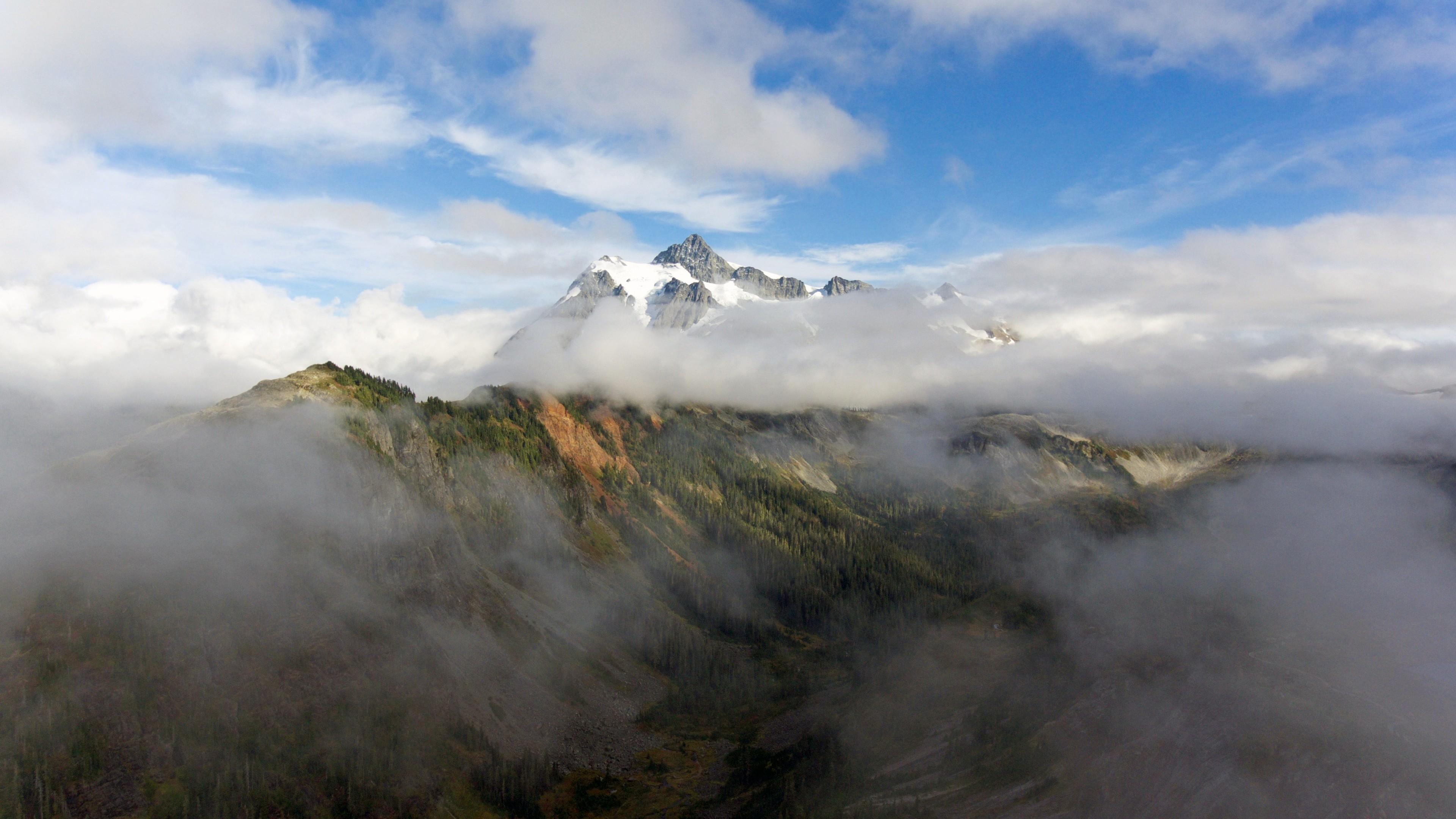 Wallpaper mountains 5k 4k wallpaper forest clouds Nature 12598 3840x2160