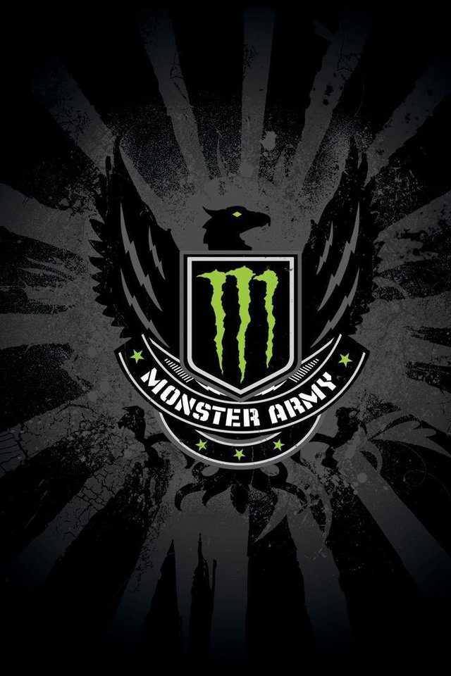 Monster Army Logo iPhone 4s Wallpaper Download iPhone Wallpapers 640x960