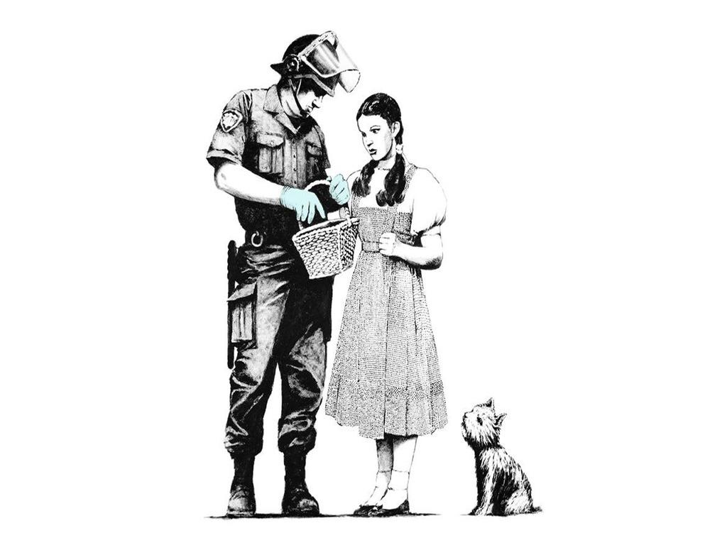 Banksy Backgrounds Wallpapersafari