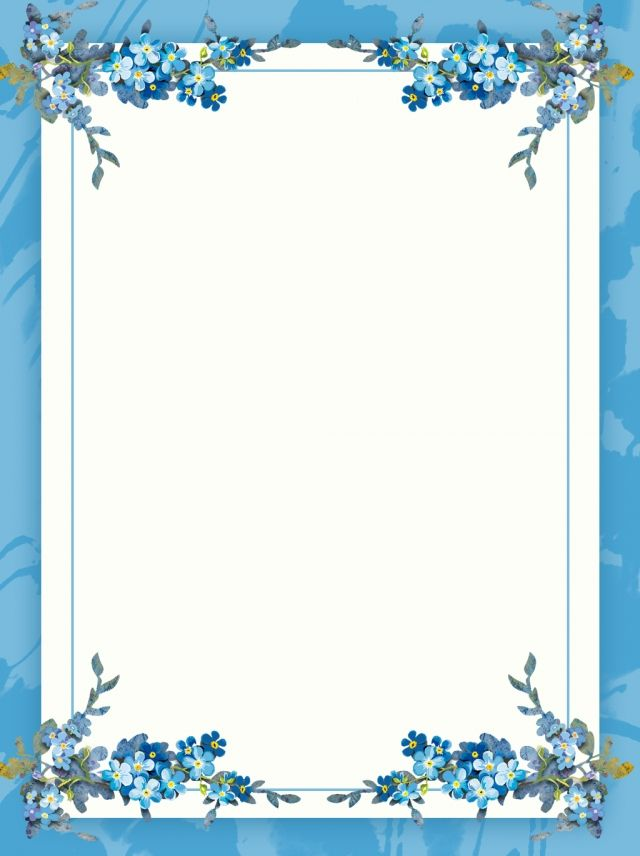 Creative Literary Border Floral Background m in 2019 Flower 640x856