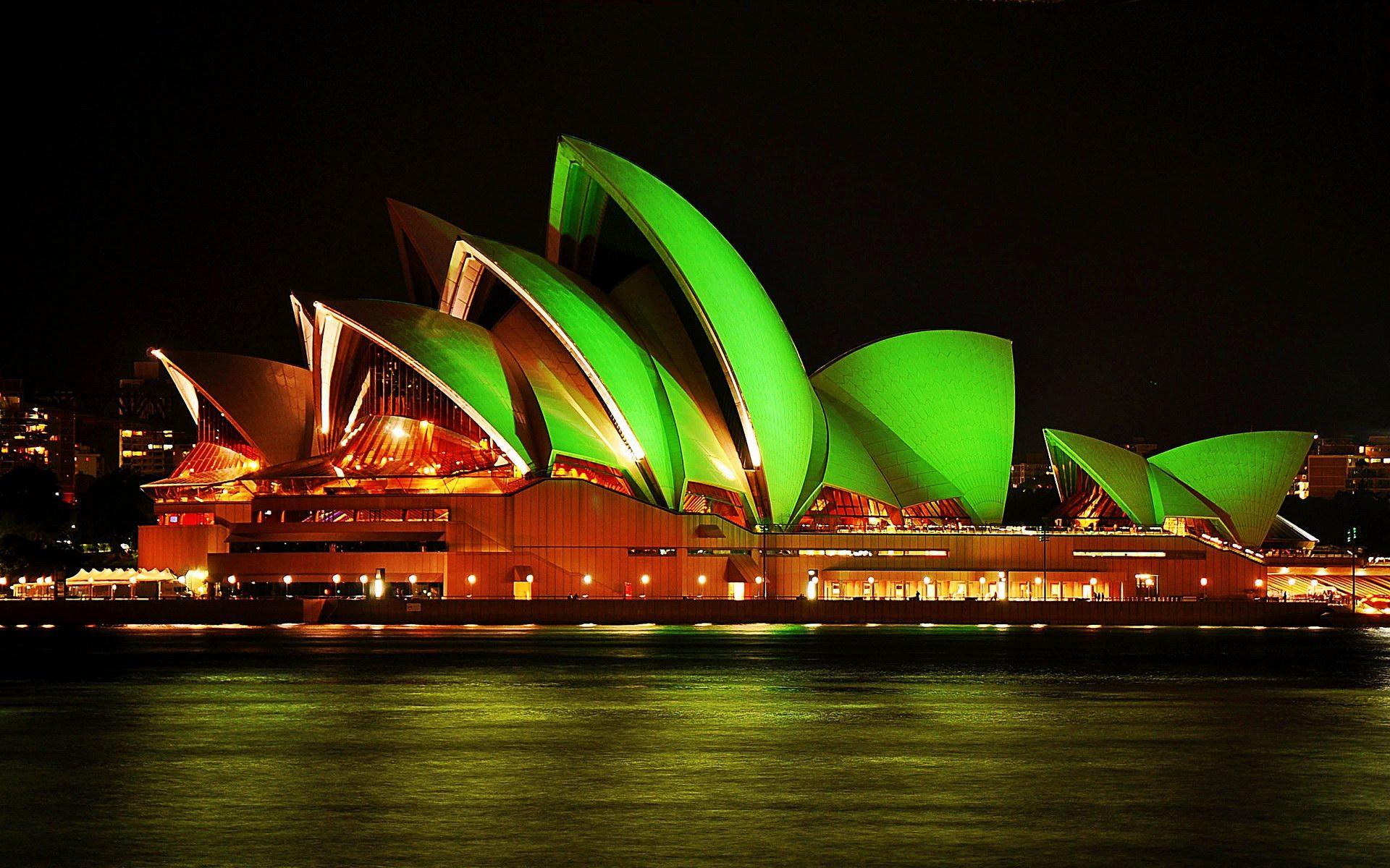 Sydney Opera House Night Lights Wallpaper   Travel HD Wallpapers 1920x1200