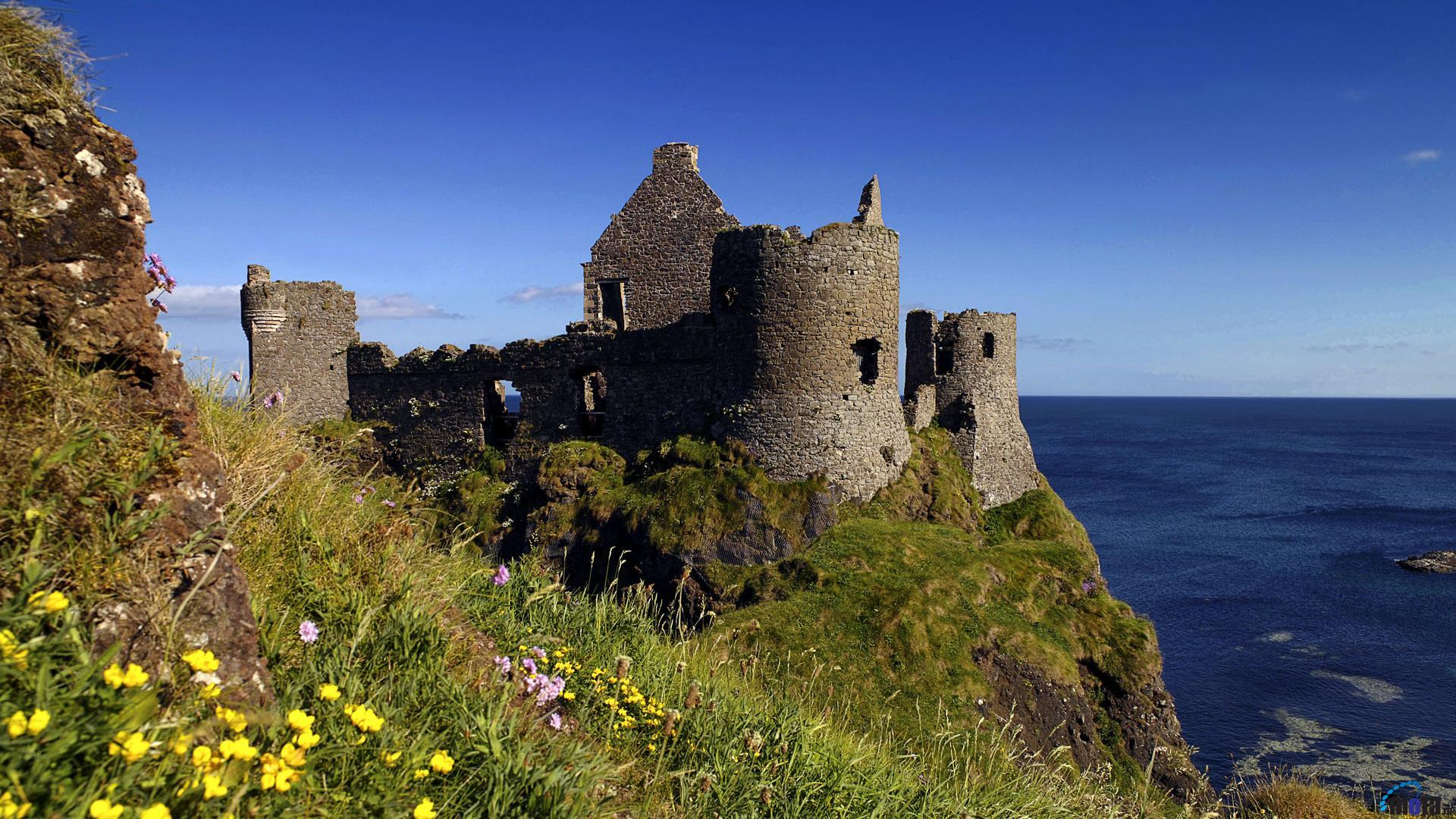Download Wallpaper Dunluce Castle Ireland 1920 x 1080 1920x1080