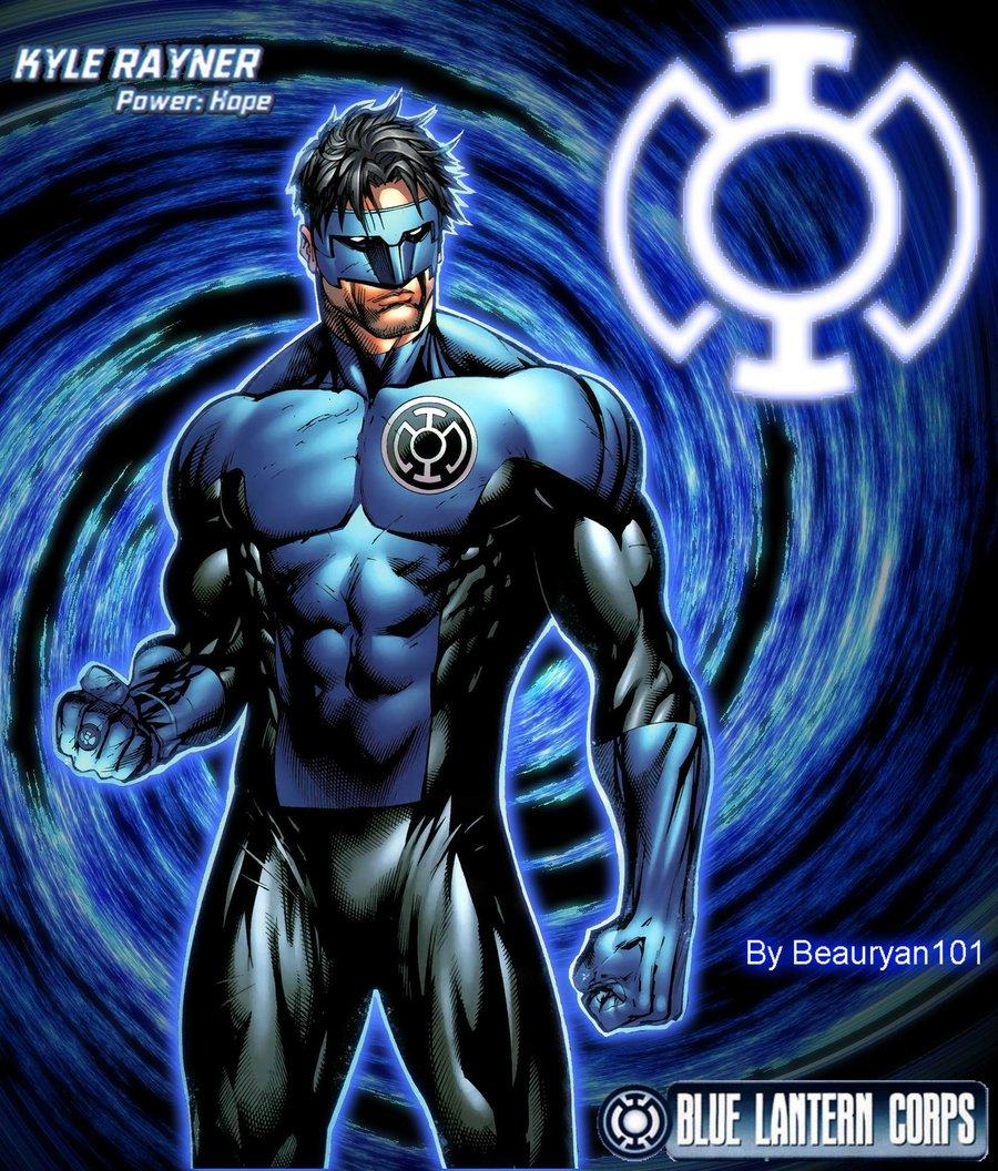 Kyle Rayner Blue Lantern by beauryan101 900x1056