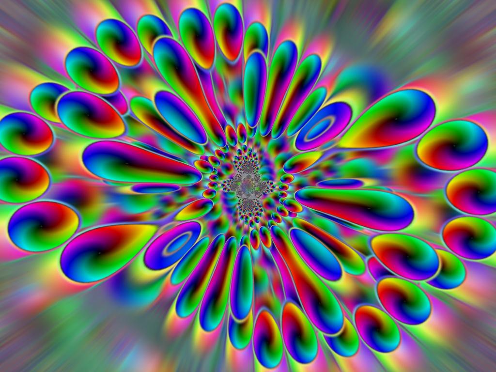 eARTh heART trippy desktop background wallpaper 1024x768