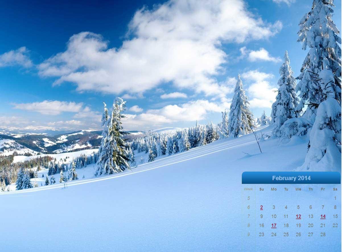 Best February 2014 Desktop Wallpaper Calendars   CreativeCrunk 1202x887