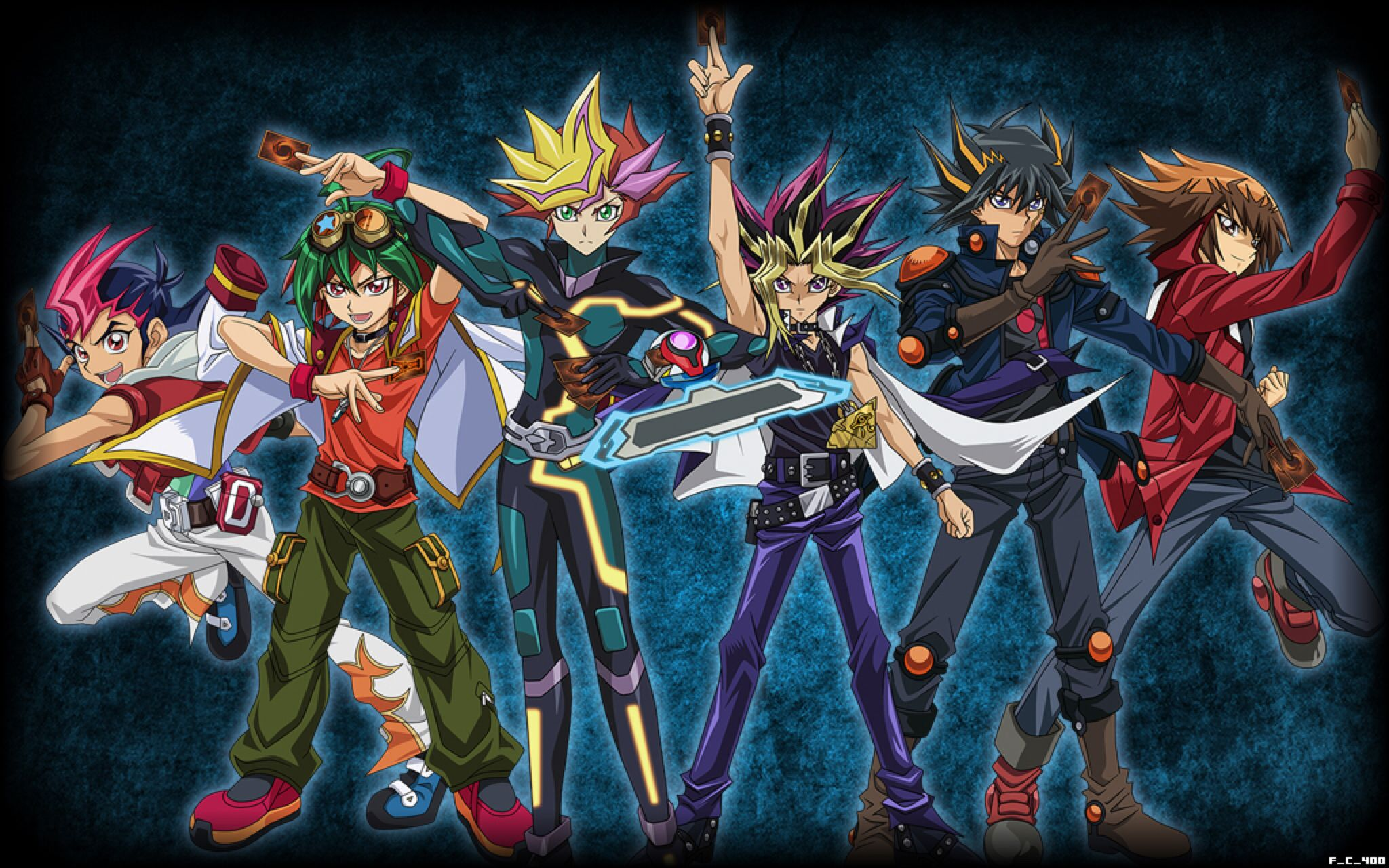 All Yu Gi Oh Protagonists WallpaperBackground by FackuuLa12 on 2048x1280