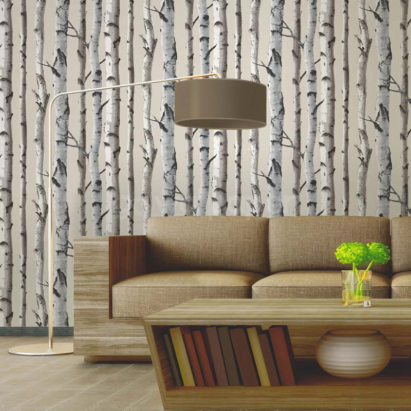 Fine Decor Distinctive Birch Tree Wallpaper in Cream   FD31051 800x800
