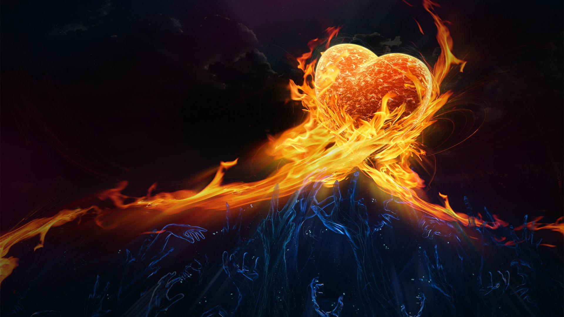Fire Animated Love HD Wallpapers 6677 HD Wallpaper 3D Desktop 1920x1080