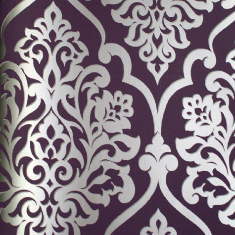 Free Download Mood Living Nino Silver And Purple Damask Wallpaper