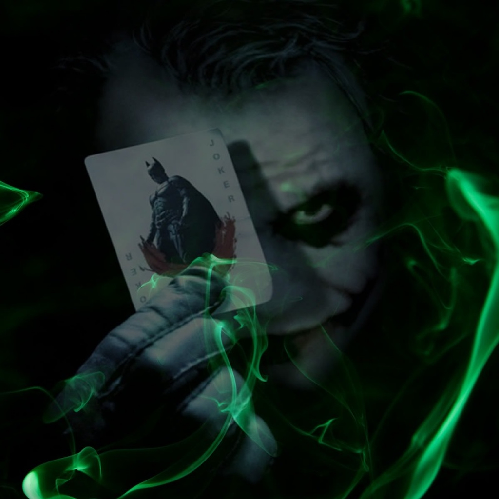 Joker Plays Batman Poker iPad Wallpapers Download 1024x1024