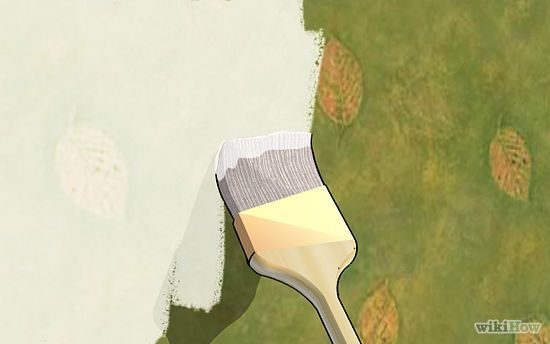 How to Paint Over Wallpaper 550x344