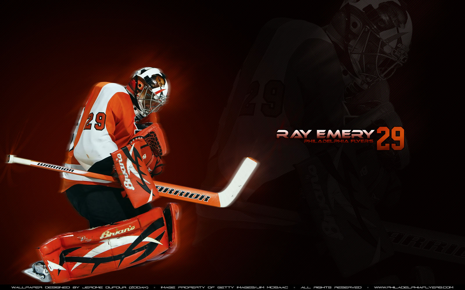 NHL Wallpapers   Ray Emery Philadelphia Flyers Widescreen wallpaper 1600x1000
