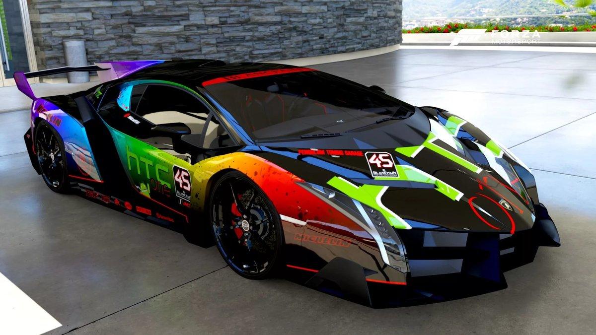 Free Download Rainbow Lamborghini Veneno Card From User B