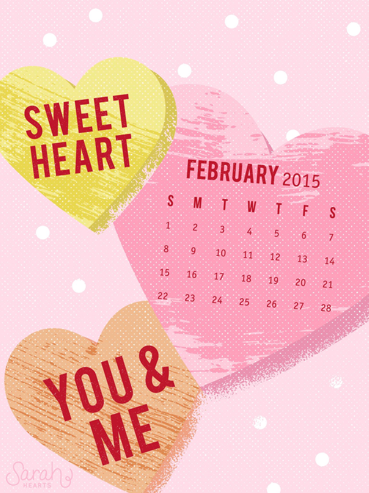 February 2015 Calendar Wallpaper   Sarah Hearts 1536x2048
