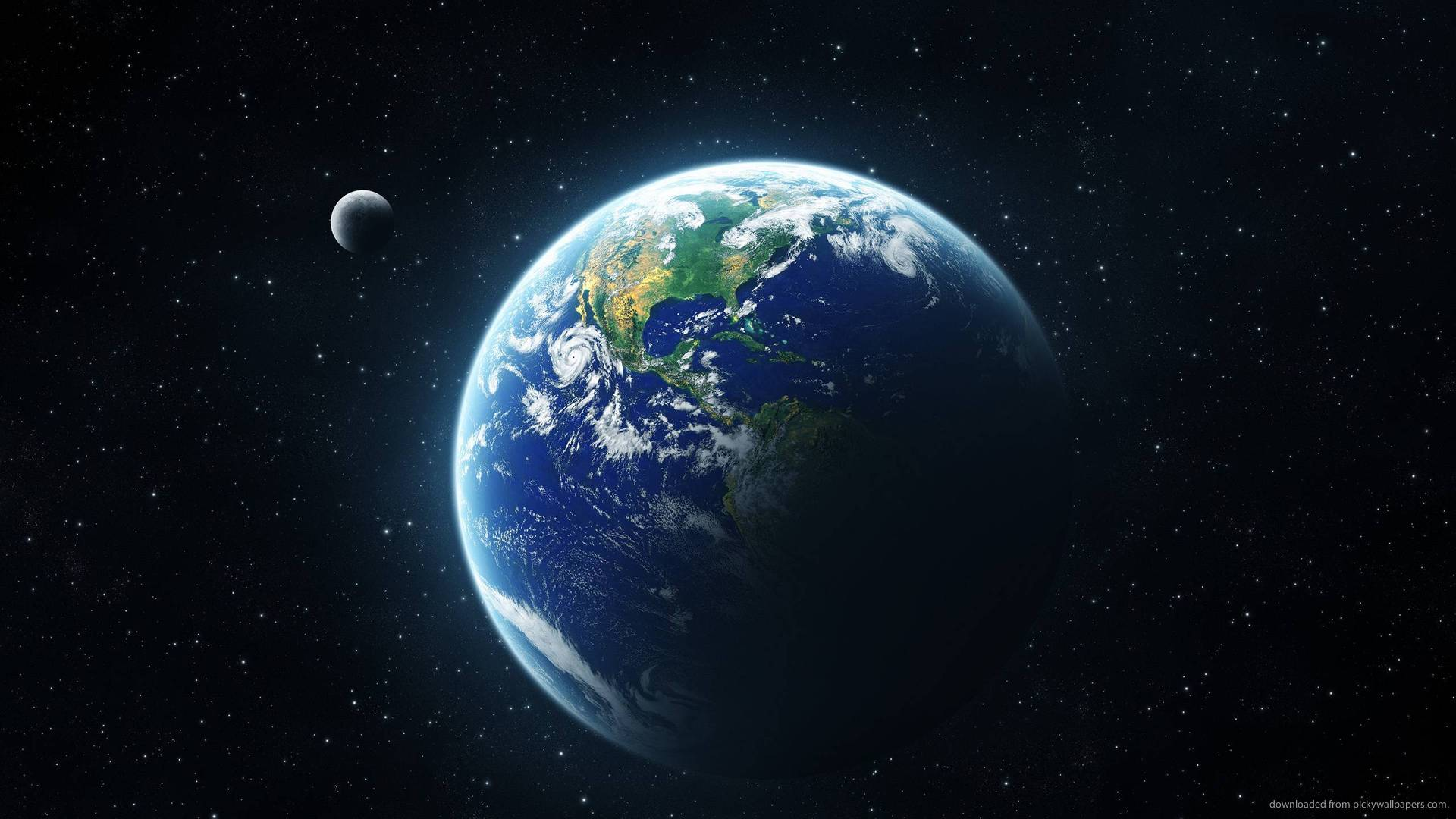 Download 1920x1080 Earth From Space wallpaper 1920x1080