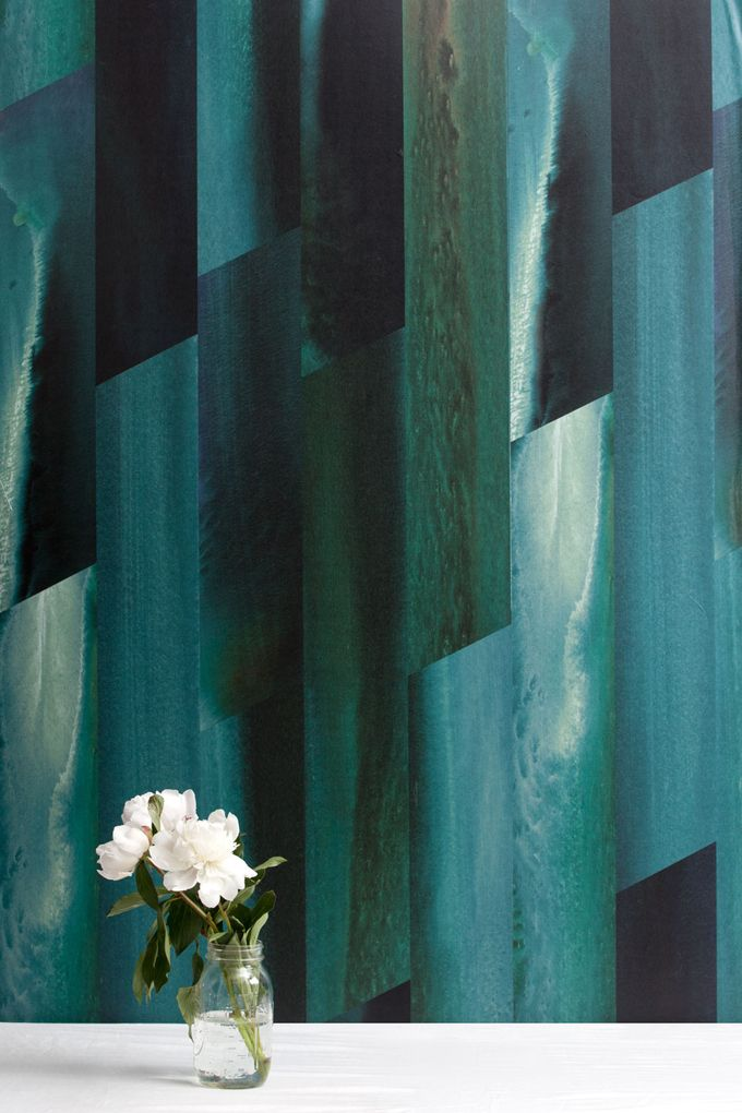 Feldspar Emerald City Wallpaper interior details Pinterest 680x1020