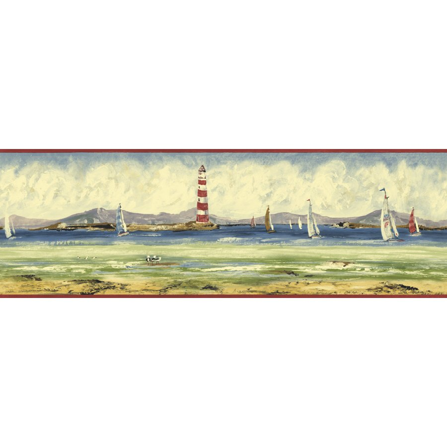 Sunworthy 6 78 Seashore Prepasted Wallpaper Border 900x900