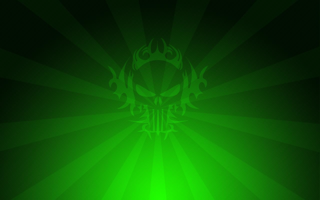 Dark Green Skull Wallpaper by DoktorJoint 1280x800