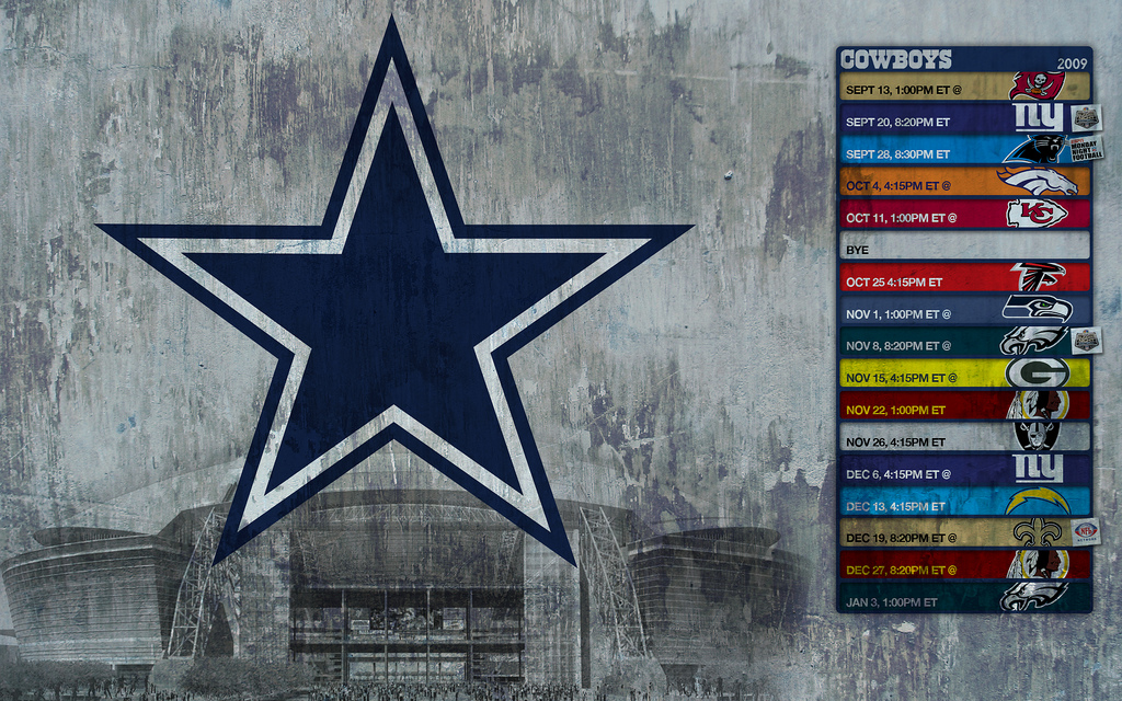 2009 Cowboys Schedule Wallpaper   a photo on Flickriver 1024x640