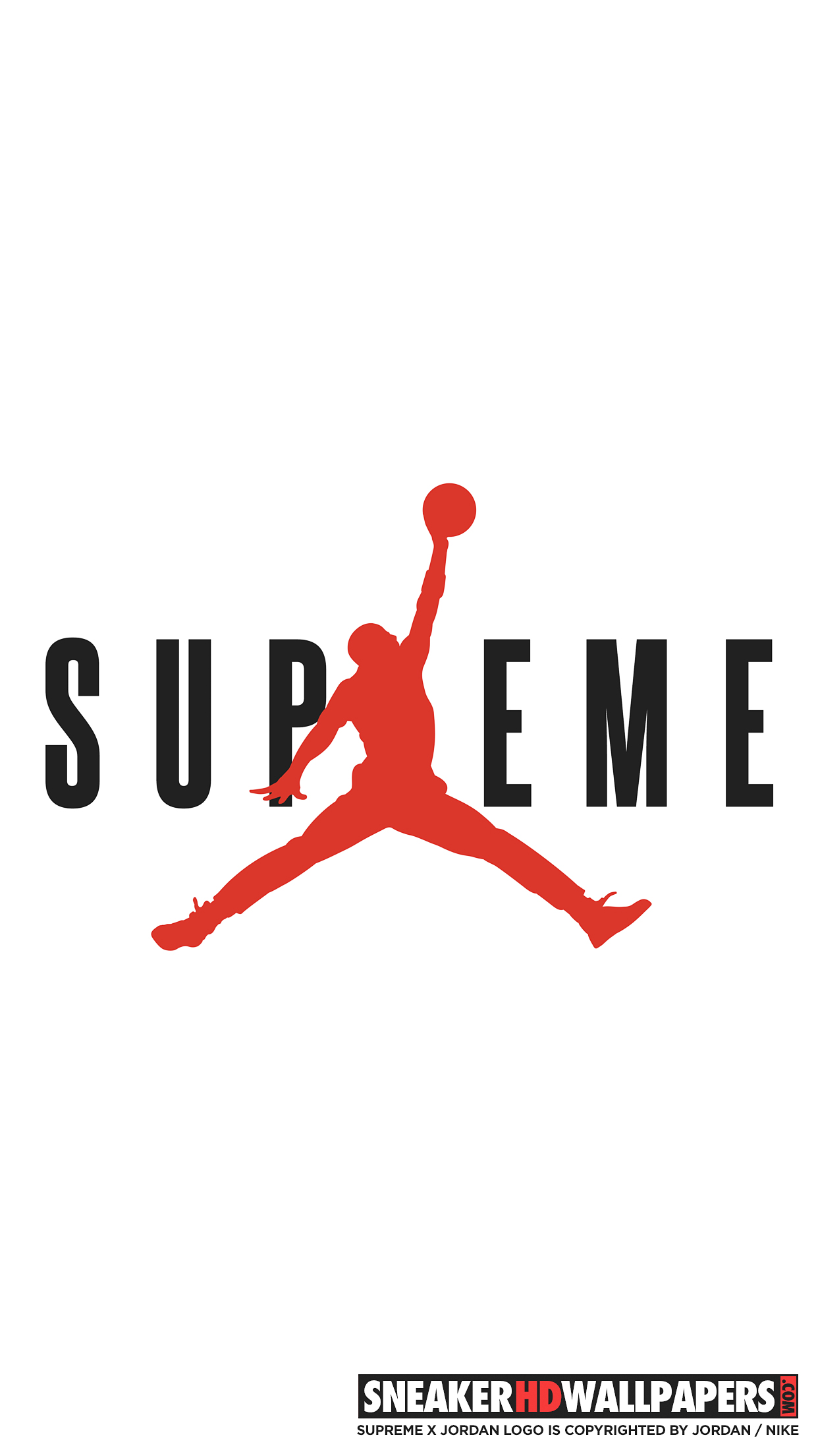 Supreme Jordan Logo Sticker 4 in 2019 Stickers Decals Labels 1242x2208