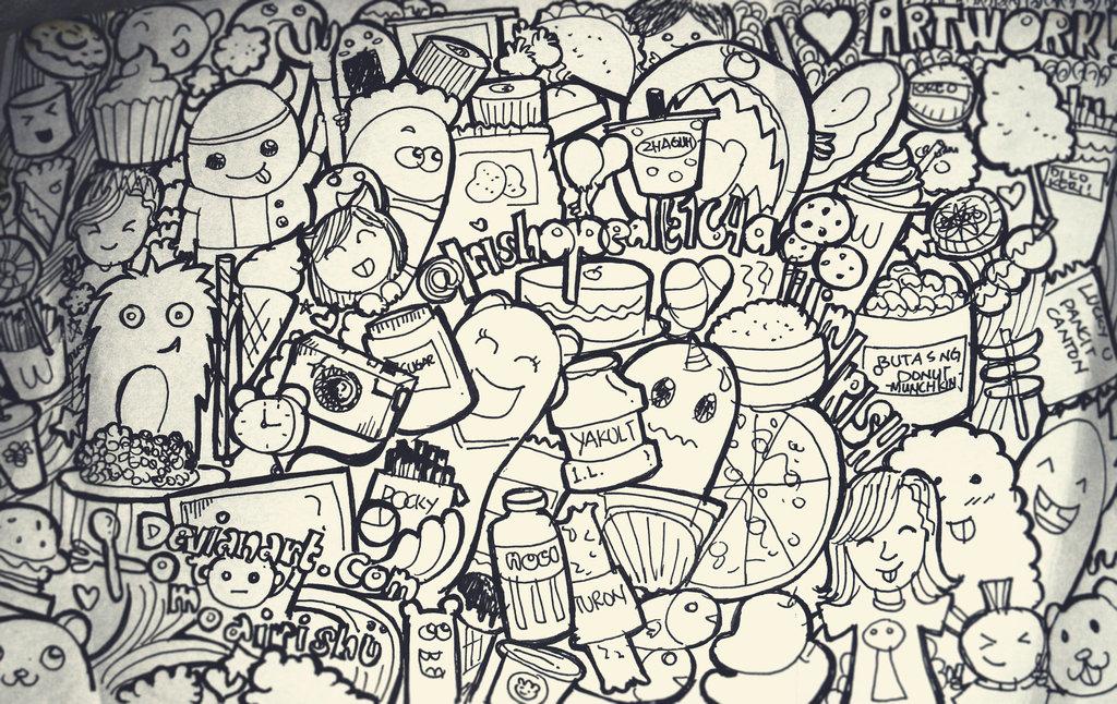 doodling doodle art coloring pages for adults. doodle art design ...