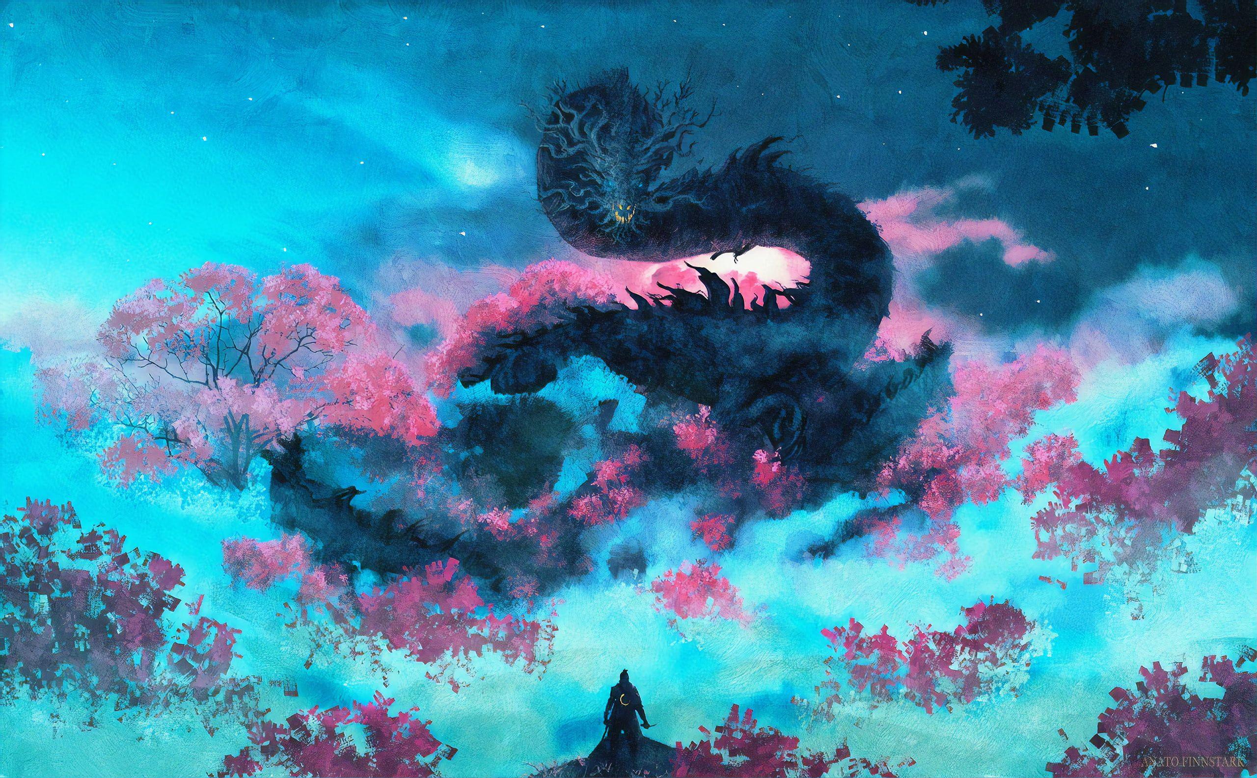 Video Game Sekiro Shadows Die Twice Dragon Warrior 2K 2560x1586