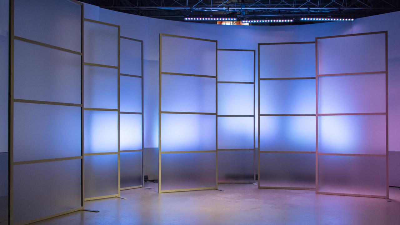 Simple Broadcast Studio Background 1280x720