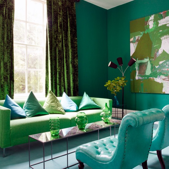 Green and blue living room emerald room ideas living room PHOTO 550x550