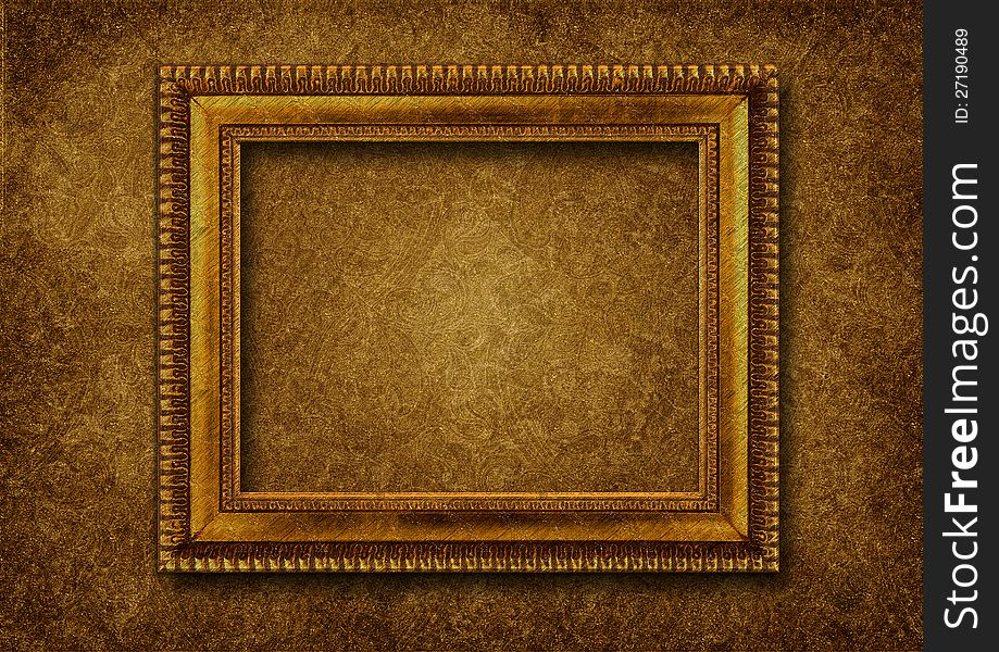 Vintage Classical Frame On Victorian Background   Stock 919x600