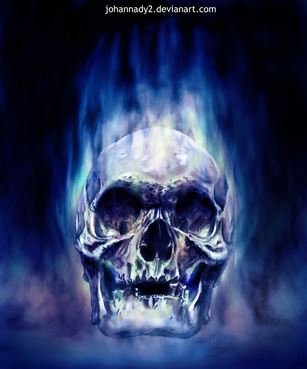 Blue Flaming Skull Wallpaper Blue flaming s 600x722