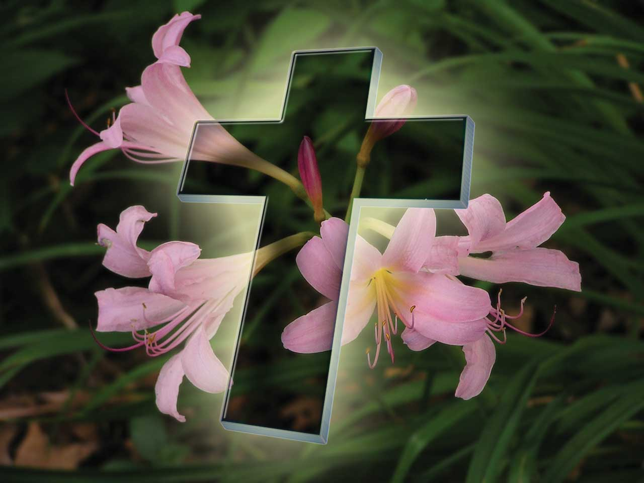 Easter Cross with Flowers Wallpaper Turn Back to God httpwww 1280x960