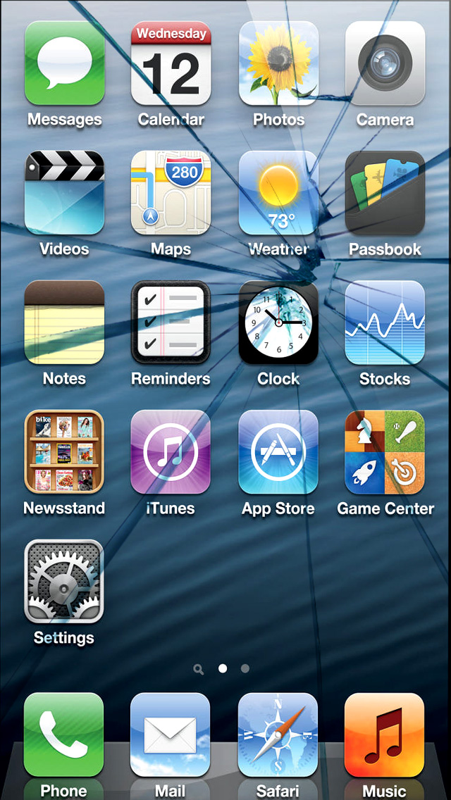 Free Download Broken Screen 640x1136 For Your Desktop