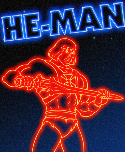 80s Neon Wallpaper he Man Goes 80s Neon Style by 491x600