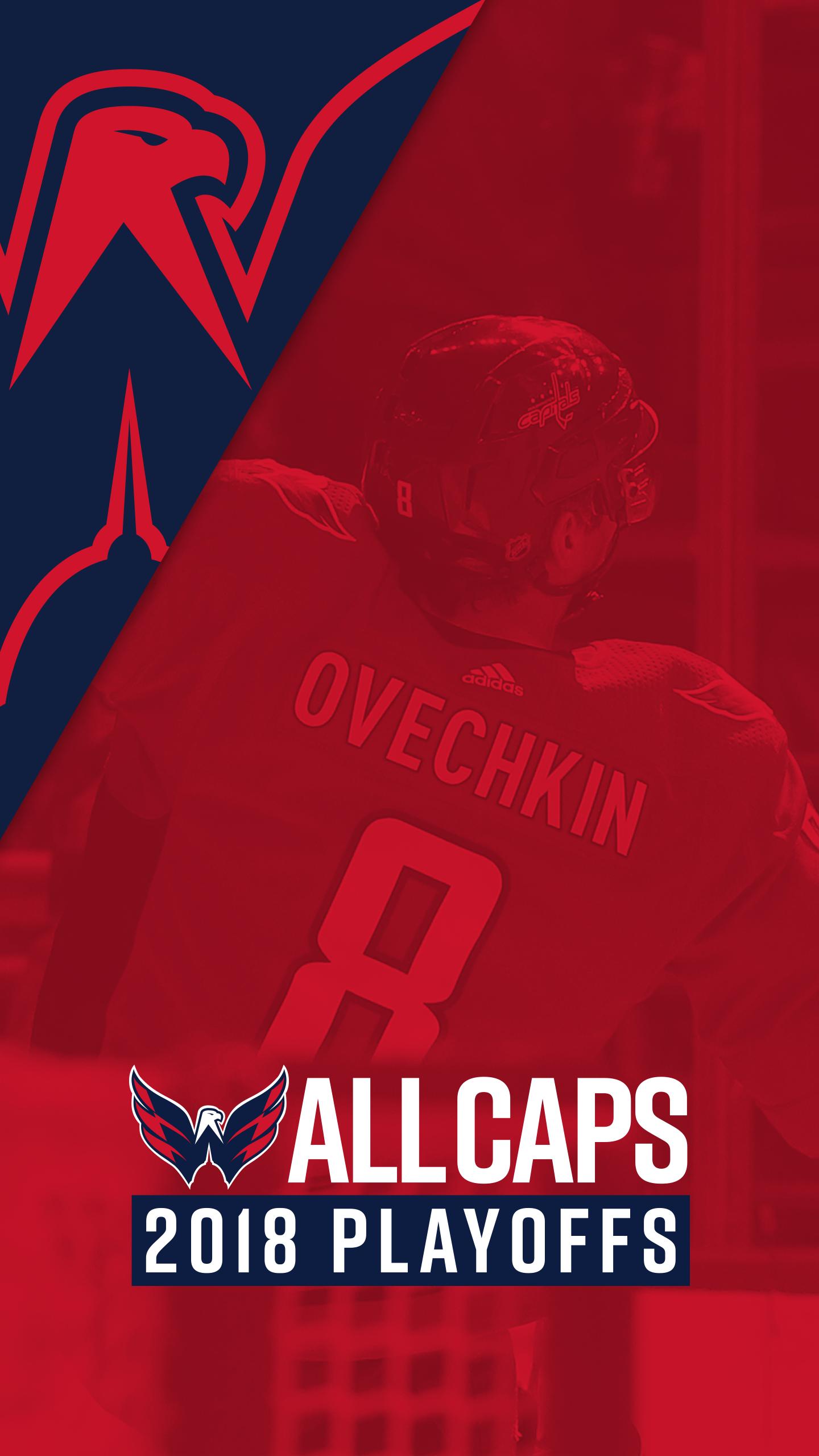Playoff Hockey Digital Downloads Washington Capitals 1440x2560