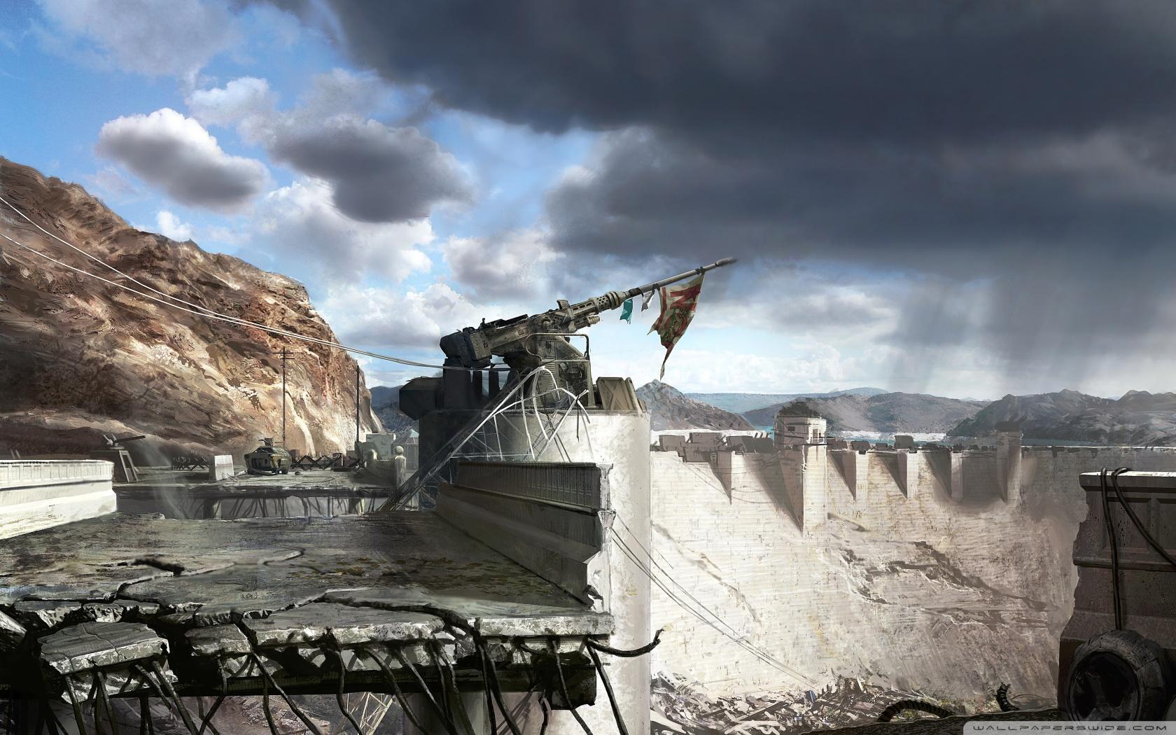 Fallout New Vegas Hoover Dam Concept Art 4K HD Desktop 1680x1050