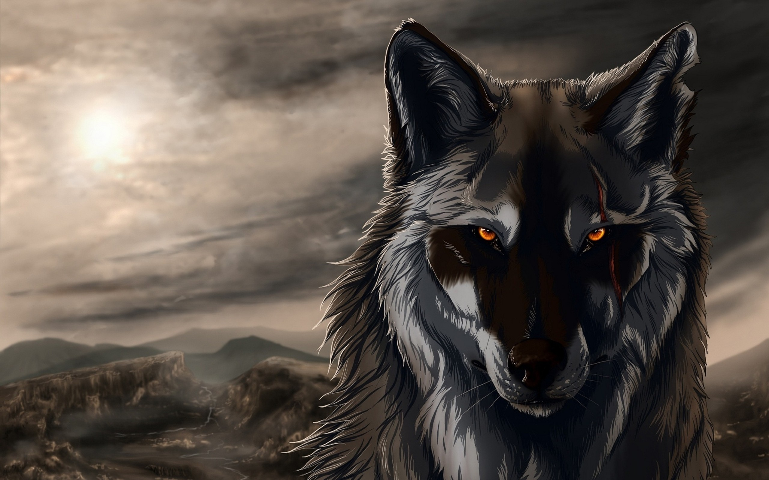 Black Wolf 3D Animation Exclusive HD Wallpapers 2681 2560x1600