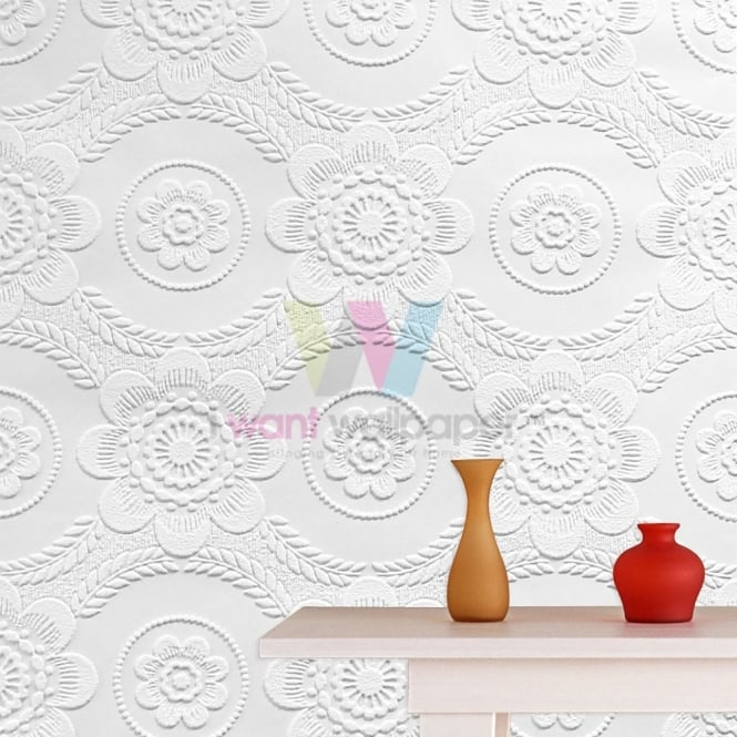 Graham Brown Graham Brown Floral Ceiling Paintable Wallpaper 665x665
