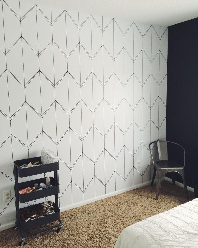 DIY Faux Wallpaper Accent Wall Statement Wall DIY Wallpaper 800x1000